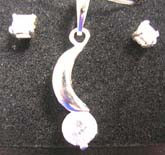 Party jewelry gift selection, quality 925 sterling silver jewelry set