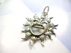 Mighty smile sun,Handcrafted in 925. sterling silver pendant