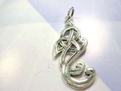 Handcrafted in 925. sterling silver intricate celtic pendant