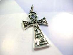 Beautiful 925. sterling silver tribal sign celtic cross pendant