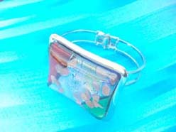 Square light color metal bangle