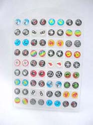 Summer color assorted pattern stainless steel earring