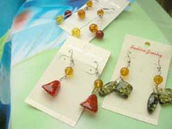 Fashion assorted amber fish hook earring