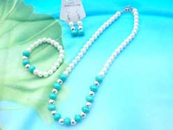beaded-jewelry-set001faux-pearl-turquoise