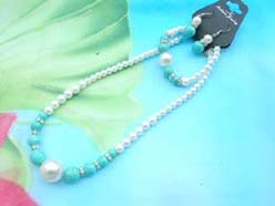 beaded-jewelry-set014faux-pearl-turquoise