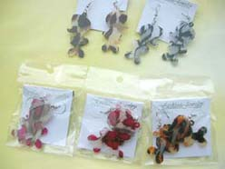 animal skin cute charactor earring