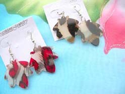 animal skin leaf design fashion earring