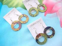 circle earring fashion jewelry