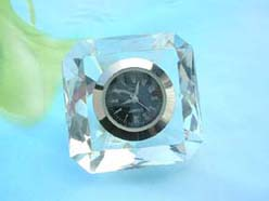 arcrylic crystal decorating clock(battery not included), square shape
