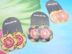 Hawaiian State flower hibiscus earring