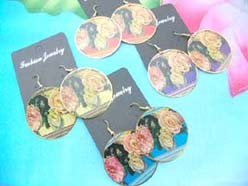 floral design earring