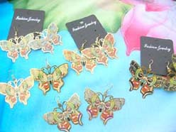butterfly cut-out costume earring jewelry