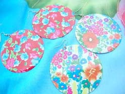 garden floral painting earring, mixed design
