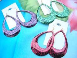 huge drop earrings for piered ears, mixed colors
