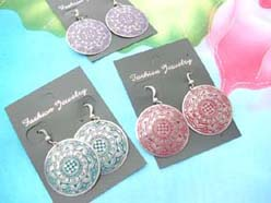 Bohemian design boho fashion earring in circle shape