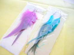 12 pairs, Wholesale Natural Dangle Feather Earrings