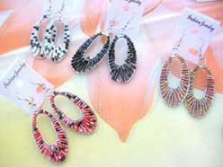 long oval seed beaded dangle earring wholesale