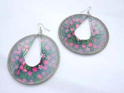 wholesale chic Peruvian style thread earrings