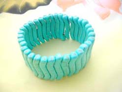 Turquoise Gemstone Stretchy Bracelet Bangle
