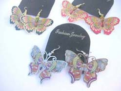 earring jewelry butterfly cutout