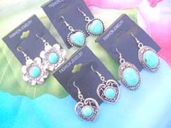 natural gemstone jewelry turquoise earrings assorted designs