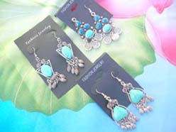 natural gemstone turquoise jewelry dangle earrings assorted designs