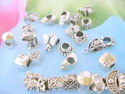 Silver plated beads charms fits all Pandora European style bracelet, pandora style beads and charms