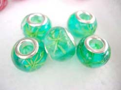 Charm Beads Jewelry Findings Spacer Murano Glass Green Beads