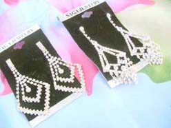 chandelier rhinestone earrings clear rhinestones