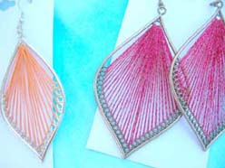 Silk Thread Chandelier Hot Fashion Earrings Leaf Designs Assortment