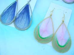 Handcrafted Silk Thread Drop Dangle Earrings Jewelry