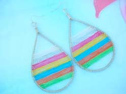rainbow raindrop thread earrings hot design