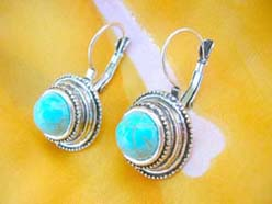 turquoise jewelry gemstone fashion earring