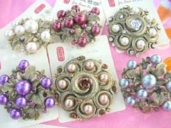 victorian style pins and brooches imitation pearl and crystal cz