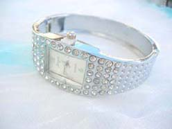 Multi clear cz bangle watch