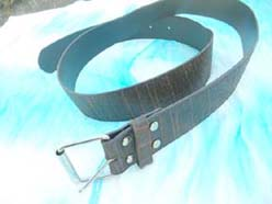 Fashion black belt with invisible pattern design
