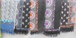 Assorted mini elephant pareo sarong
