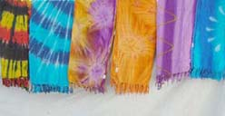 Burst tie dye fashion sarong