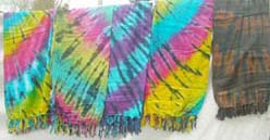 Fashion rainbow tie dye sarong
