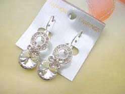 piered earring with cz