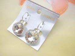 fashion earring with sing round large cz