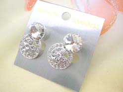 circle multiple czs studs earring