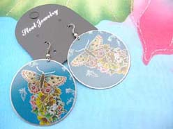 blue butterfly earrings summer fashion accessories