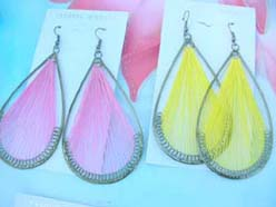 raindrop plain color lady's fashion jewelry thread earrings