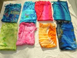 Tie dye in fashion sarong wrap