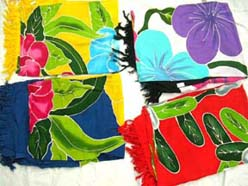 Quality hand painting flower sarong