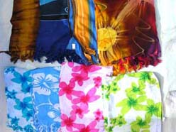 Traditional fashion floral pareo sarong