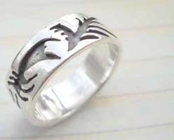 Quality 925. stamped silver scorpion ring