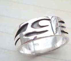 Beauty 925. stamped silver tattoo beach ring